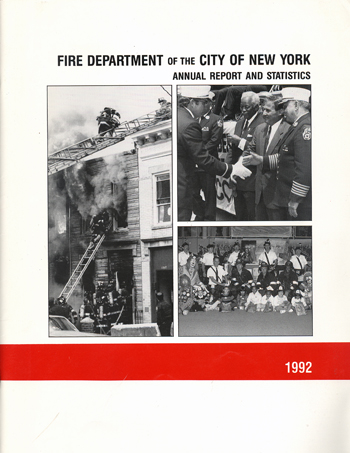 FDNY Annual report and statistics 1992